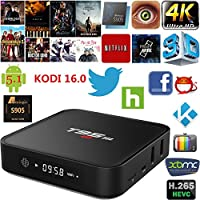 Vipwind Android TV Box T95M 1GB/8GB 2.4G WiFi Amlogic S905X Android 6.0 TV Box Quad-Core 64 Bit UHD 4K Mini PC Smart Media Player