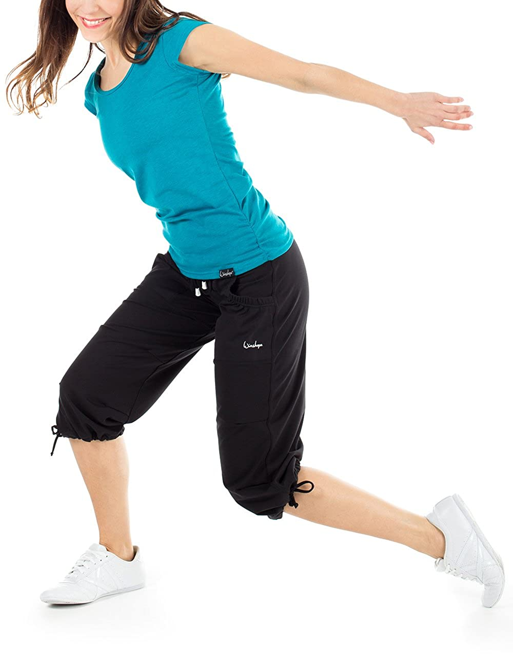 Schwarz Winshape Damen Feel Good 3//4 Trainingshose WBE6 Dance Fitness Freizeit Sport M