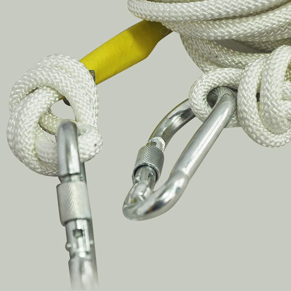 15m IG Corde d'escalade de sécurité résistante à l'usure 10M   15M   20M   30M   50M, Corde d'acier en Nylon 9Mm Exploration de la Vitesse d'escalade en Montagne