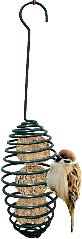 VAHIGCY Outdoor Bird Feeder, Hanging Wild Bird Feeders Stations for Fat Balls/Suet Balls, Squirrel Proof Metal Bird Feeder, Fat Ball Holder Feeding Tool for Birds Food Dispenser