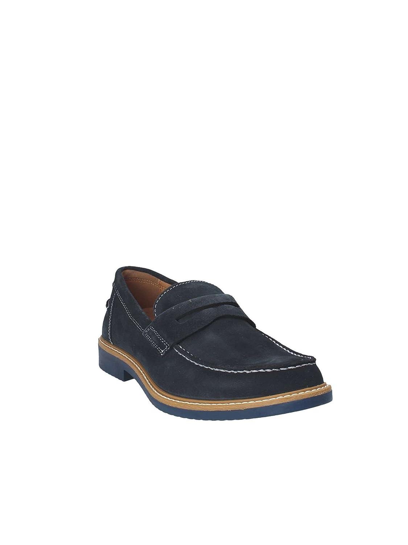 Chaussures femmes Bottes Martin à fond plat, bleu, 38