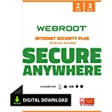 Webroot SecureAnywhere Internet Security & Virus Protection Software 2021 for 3 Devices + Identity Protection, Secure Web Bro