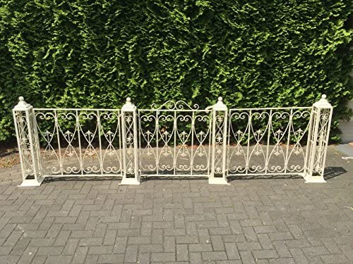 Puerta Hierro Puerta para jardín jardín puerta Valla Element Jardín Hierro Antiguo Estilo L: 338 cm: Amazon.es: Hogar