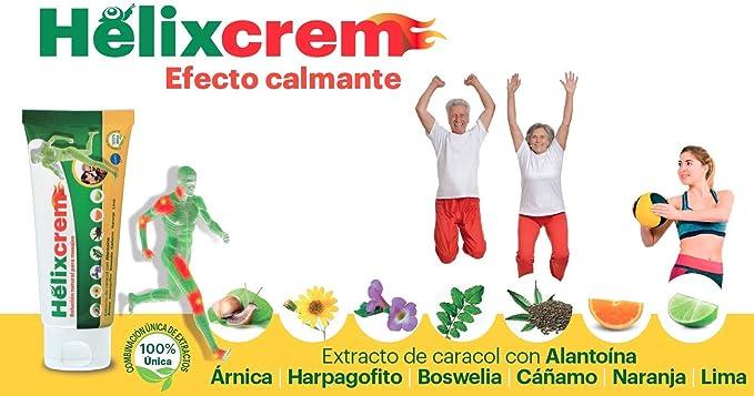 Crema natural de efecto calmante para masaje en cuello y espalda - Árnica, harpagofito, boswelia, alantoína y aceite esencial de cáñamo para aliviar ...