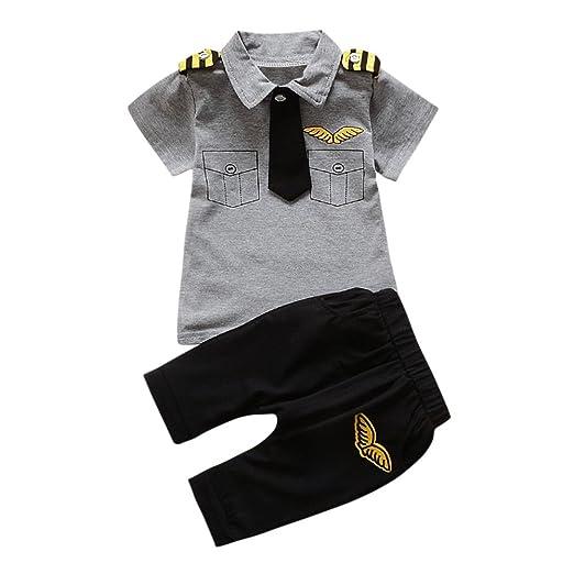 6f02c6510627 Amazon.com  Fashion Baby Boy Outfits Summer Gentleman Tie Short ...