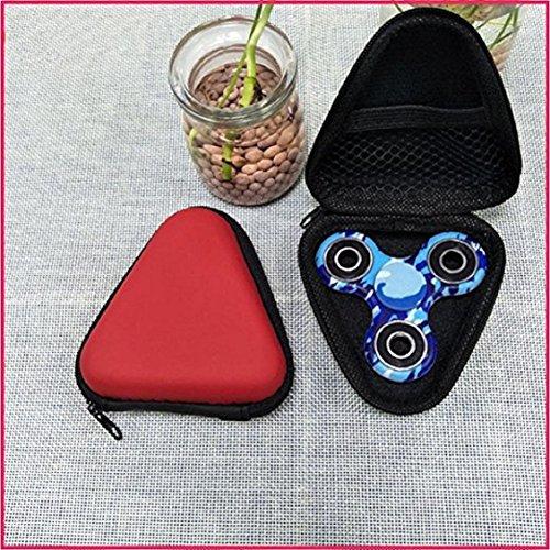 For Fidget Hand Spinner, Ouneed ® Para la mano a prueba de polvo Spinner EDC inquieto Spinner caja Focus juguete (rojo) rojo