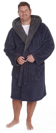 Homme Grand Haut De Luxe Blottir Peignoir Robe De Chambre Polaire Tailles 3xl 5xl Peluche Peignoir Avec Capuche