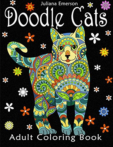 Doodle Cats Adults Coloring Book