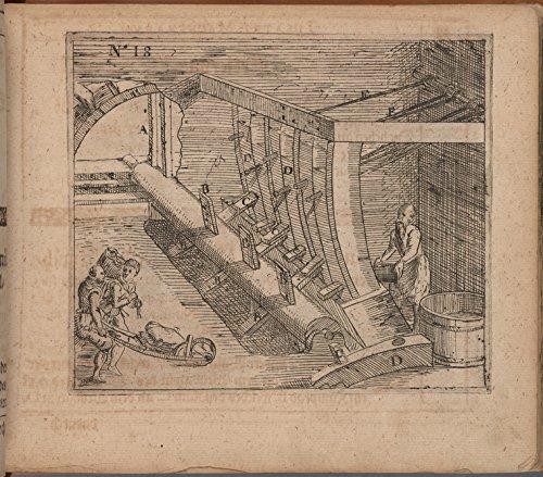 Historic Pictoric Print | Eine Machina oder Rustung den Tuchmachern die Tuch zu walcken/desgleichen auch die gebleichten Schetter, 1618 | Vintage Wall Art | 44in x 36in