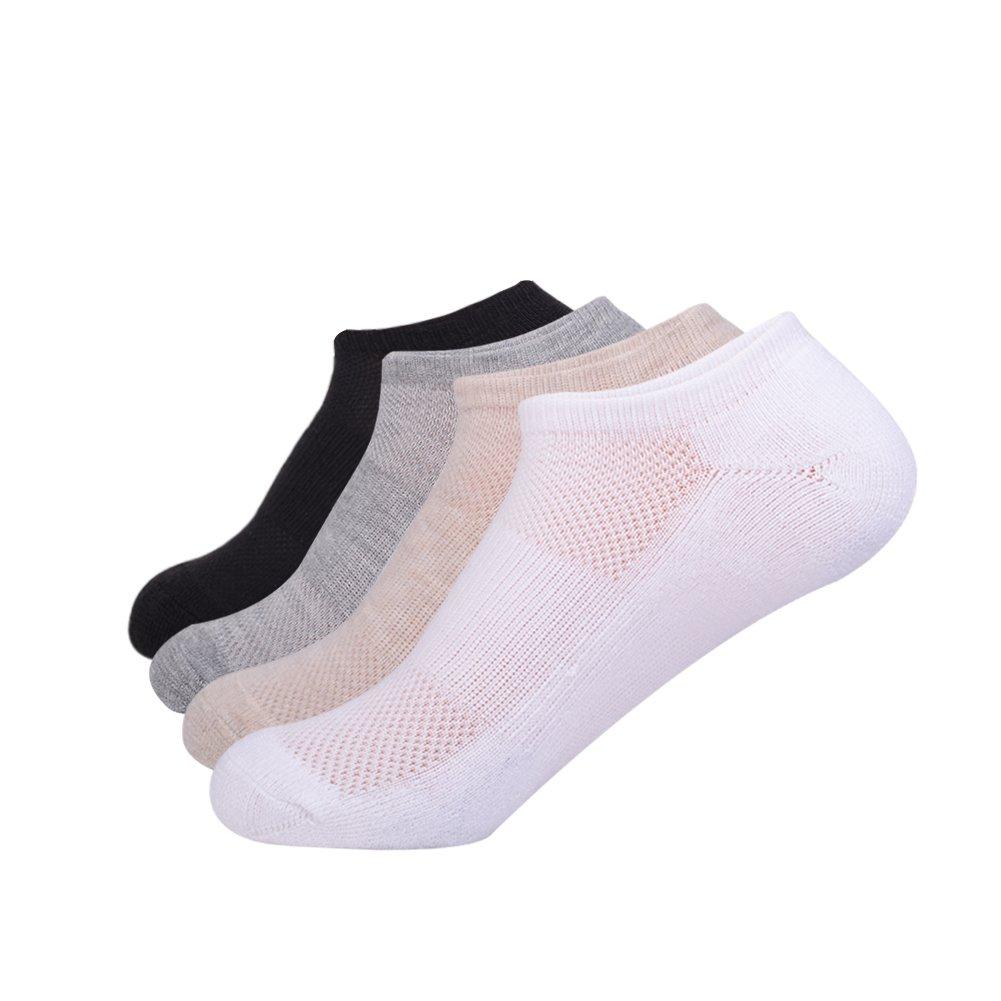 No Show Athletic Women's Cushion Socks with Breathable for Running 4 Pairs