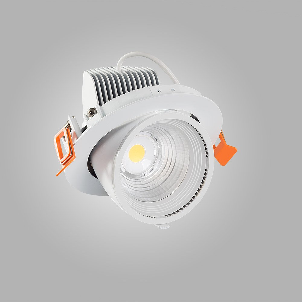 Mextronic Einbaustrahler 30W LED Einbauleuchte TRUNK 4000K Neutralweiß schwenkbar Ø 148mm