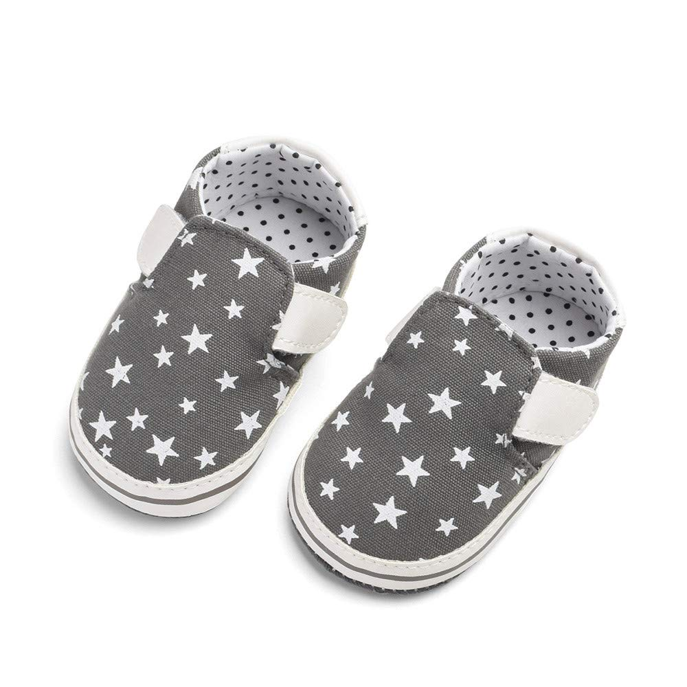 Cloudro Baby Canvas Shoes,Toddler Soft Sole Anti-Slip Hook/&Loop Shoe for 0-18 Months