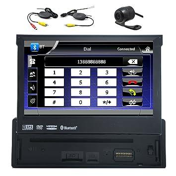 1 Din de 7 pulgadas Receptor Bluetooth Est¨¦reo Digital Media coche con GPS