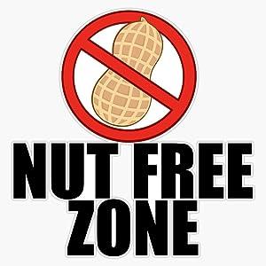 LAD Studio Nut Free Zone Peanut Allergy Sticker Vinyl Bumper Sticker Decal Waterproof 5