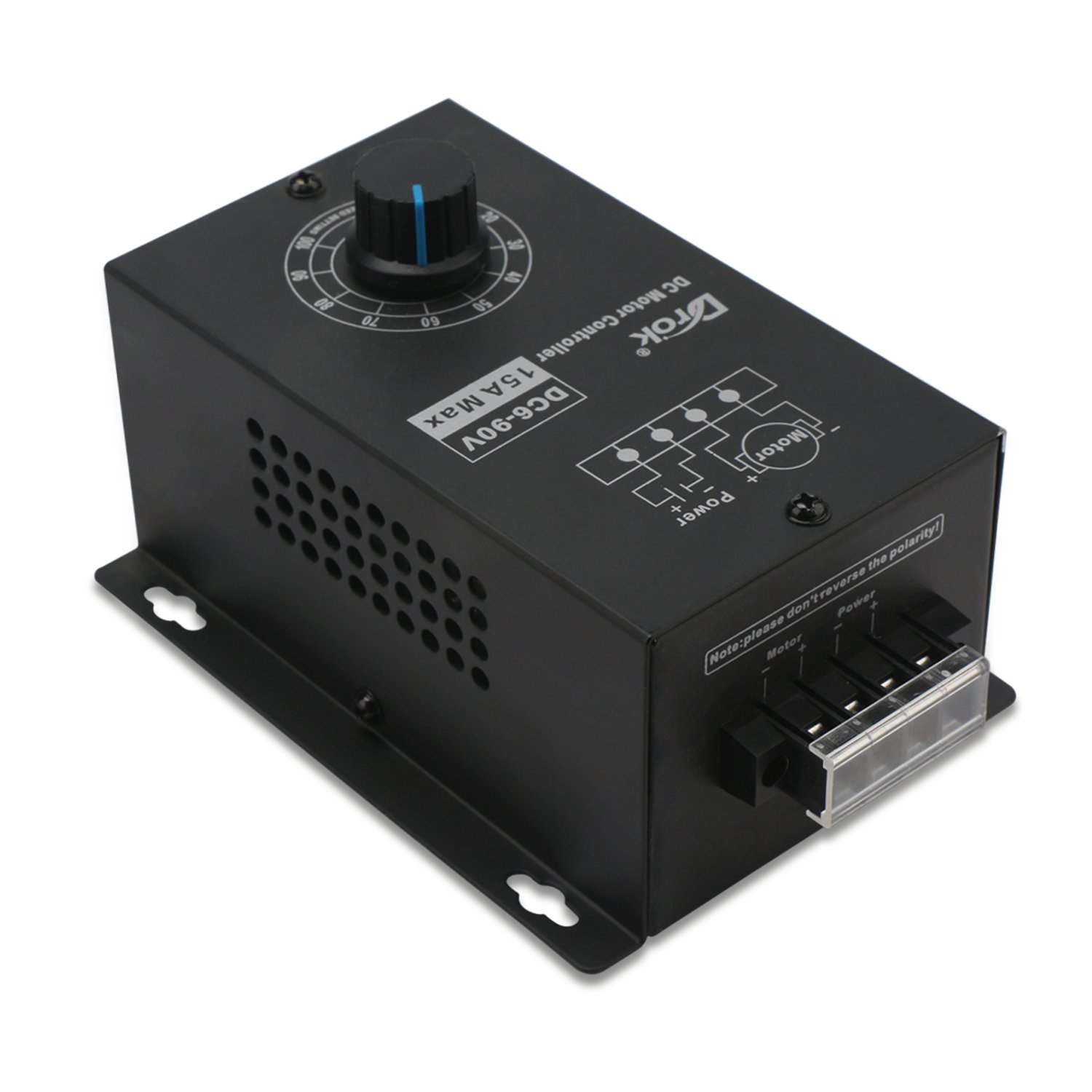 Home Improvement 10-60v 10a 400w Electric Dc Motor Speed Controller Adjustable Variable Speed Switch Motor Speed Control Governor Driver Motors & Parts