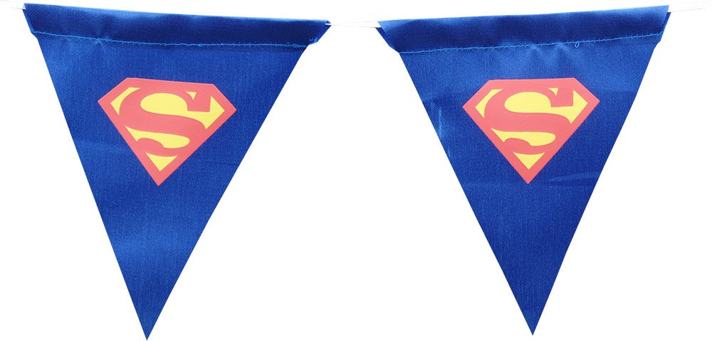 Superman Fabric Pennant Bunting Special ABC Party