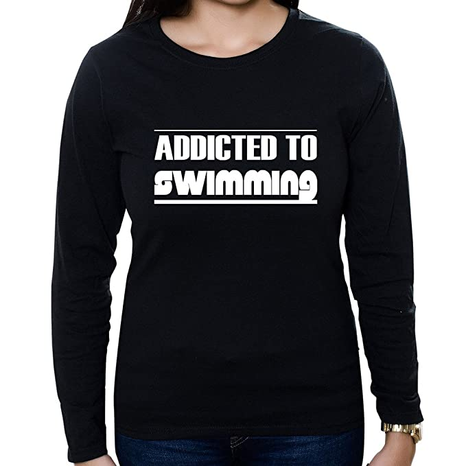 c643cee1e Custom Brother - Addicted to Swimming Women's Long Sleeve Shirt at ...