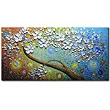 Amei Art Paintings, 24X48 Inch Paintings Oil Hand Painting 3D Hand-Painted On Canvas Abstract Artwork Art Wood Inside Framed Hanging Wall Decoration Abstract Painting