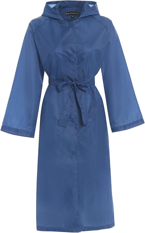Hari Deals Ladies Long Hooded Showerproof Lightweight Trench Supermac Jacket Coat