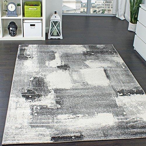 Teppich Velours Kurzflor - Winchester - Designer-Teppich Modern Schattiert Grau, Grösse:240x340 cm
