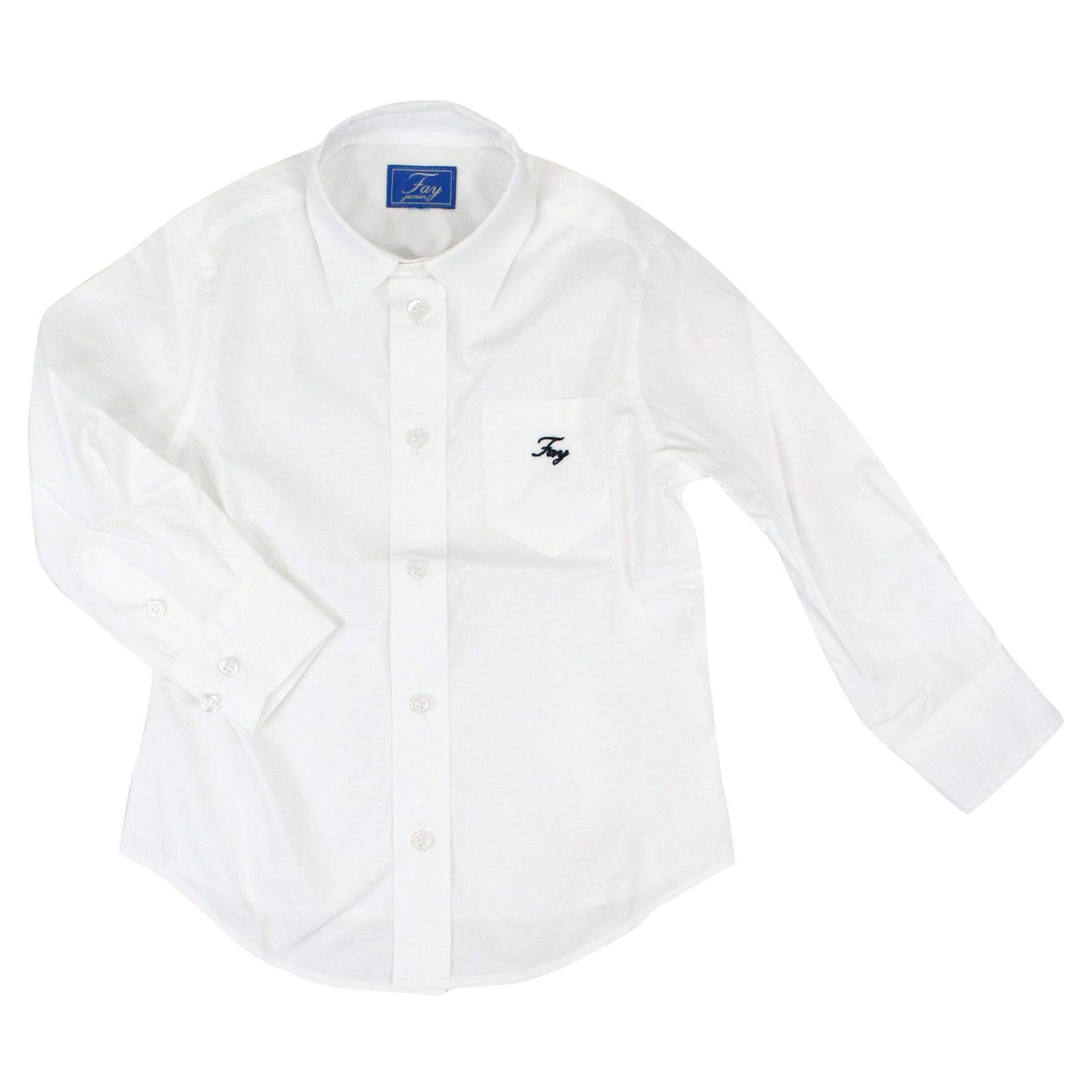 fay Boys Ndha138741lisfb001 White Cotton Shirt