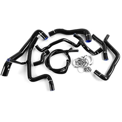 Amazon.com: Silicone Radiator Hose For VW Volkswagen Golf MK3 VR6 2.8 2.9 1994-1998 Black: Automotive