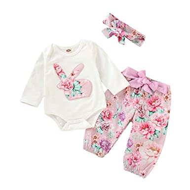 b08cccd19 Amazon.com  Clothful 💓Infant Baby Easter Day Rabbit Print Jumpsuit ...