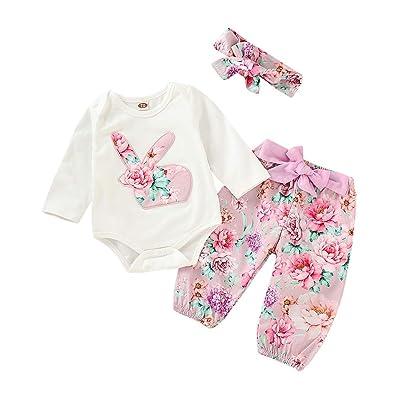332635c054c4c Baby Clothes Set, Infant Baby Easter Day Rabbit Print Jumpsuit ...