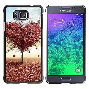 TopCaseStore / la caja del caucho duro de la cubierta de protección de la piel - Tree LOVE - Samsung GALAXY ALPHA G850