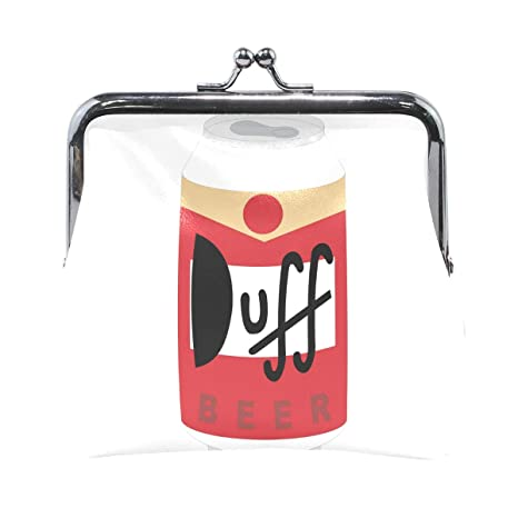 Duff - Monedero de Piel con diseño de Cerveza: Amazon.es ...