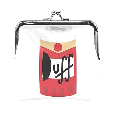 Amazon.com: Duff - Monedero de piel impresa de cerveza con ...