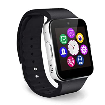 FJTYG Smart Watch Correa Metálica Bluetooth Muñeca Smartwatch ...