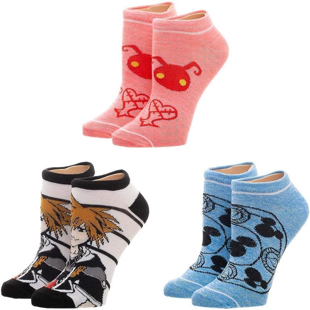 Bioworld Merchandising / Independent Sales Kingdom Hearts 3 Pack Juniors Ankle Socks Standard: Amazon.es: Ropa y accesorios