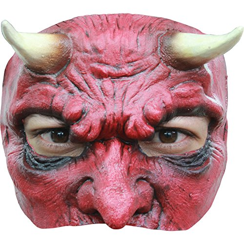 [Devil Latex Half Mask Adult Accessory] (Devil Masks For Sale)