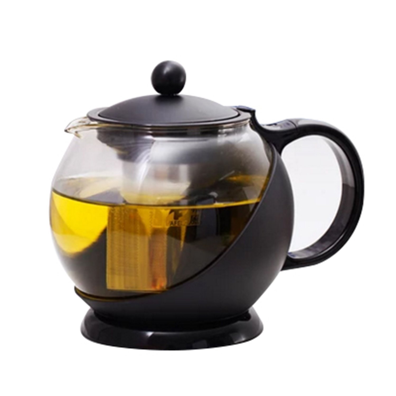 Tosnail 1250 ml Stunning Glass Tea Pot with Removable Rust Free Mesh Infuser - Large Enough for 4 to 5 Cups of Tea T-GlassTeaPot-1250ml