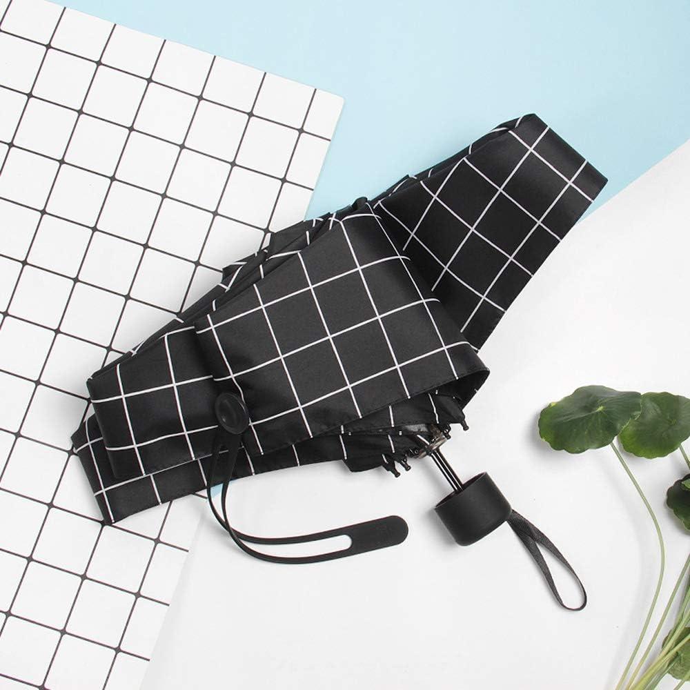 Qeeuanl Folding Umbrella Female Ultra-Light Compact Portable Rain and Rain Dual-use Pocket Sun Umbrella Sun Protection Umbrella Color : White, Size : B