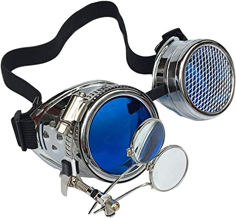 Vintage Steampunk Goggles Cosplay Kaleidoscope Glasses Ocular Loupe Eyewear Costume Accessory