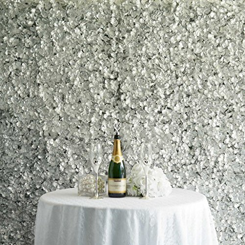 Efavormart 4 PCS Silver Silk Hydrangea Flower Mat Wall Wedding Event Decor for DIY Centerpiece Arrangement Party Decorations