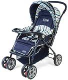 LuvLap Baby Stroller Pram Comfy Navy Blue