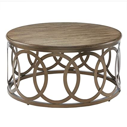 Superieur Image Unavailable. Image Not Available For. Color: Fraser Round Coffee Table  Brown/Bronze ...