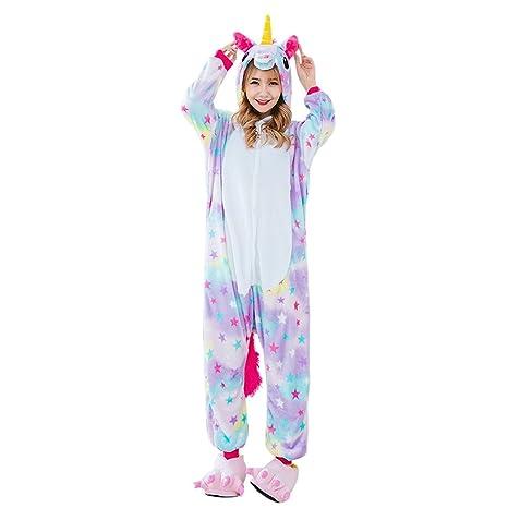 Amazon.com: Beautyer Unicorn Onesie Pajamas Colorful Animal Sleepwear for Party Supply: Clothing