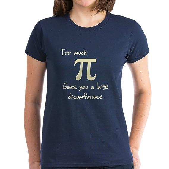 592025a17 Amazon.com: CafePress Pi Circumference Women's Dark Cotton T-Shirt: Clothing