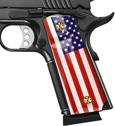 Cool Hand 1911 Patriotic Grips with USA Flag, Full Size, High Polished Acrylic