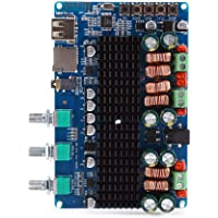 Akozon Amplificador Estéreo Digital 2.1 Canales Placa Bluetooth