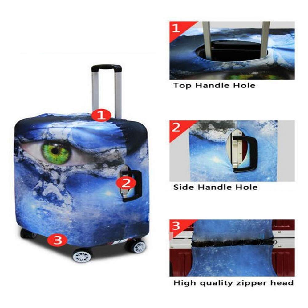 Pirate Stylish Luggage Cover,Skull of Criminal Rogue Eye Patch Headscarf Iconic Hat Crossed Knifes Daggers for Luggage,M 19.6W x 28.9H