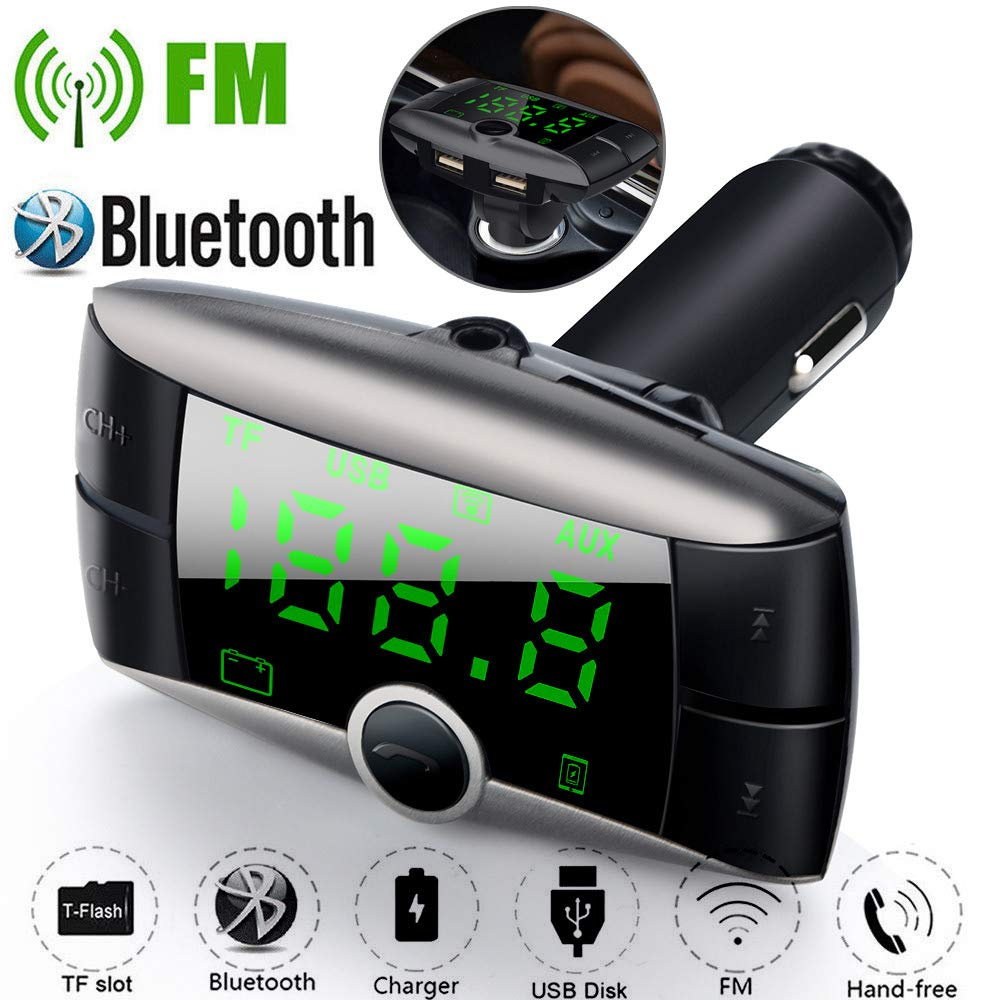 USHOT Wireless Bluetooth FM Transmitter Modulator Car Kit MP3 Player Dual USB Charger Rose Gold One Size