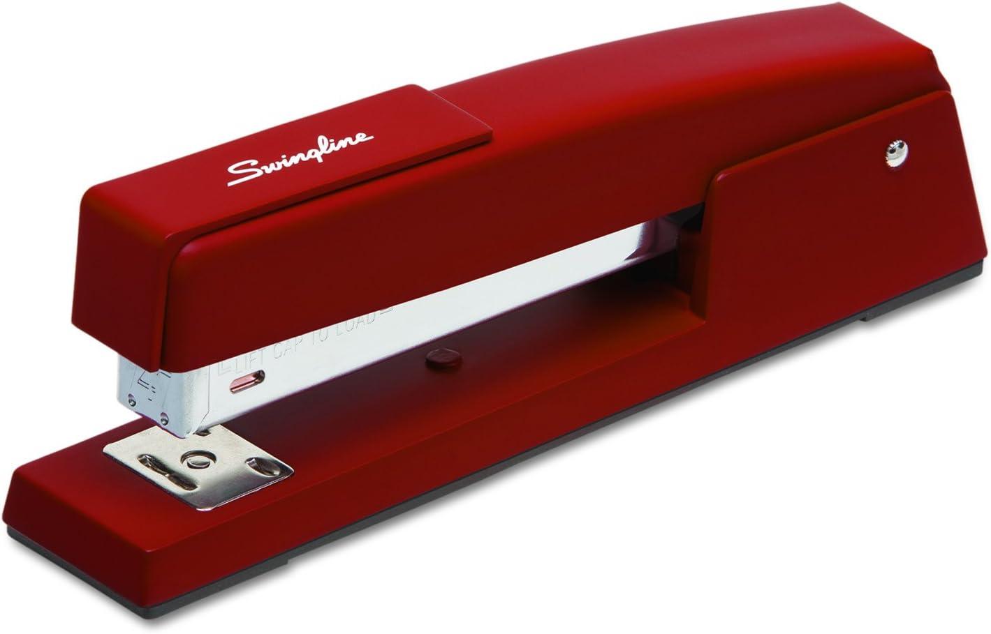 Swingline Stapler, 747 Classic Desktop Stapler, 20 Sheet Capacity, Metal, Lipstick Red (74718)