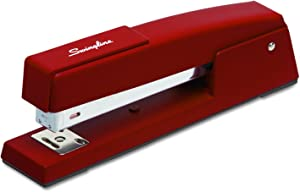 Swingline Stapler, 747 Classic Desktop Stapler, 20 Sheet Capacity, Metal, Lipstick Red (74718)
