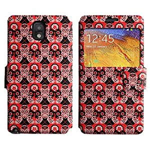 AADes Scratchproof PU Leather Flip Stand Case Samsung Galaxy Note 3 III ( Amazing Skull )