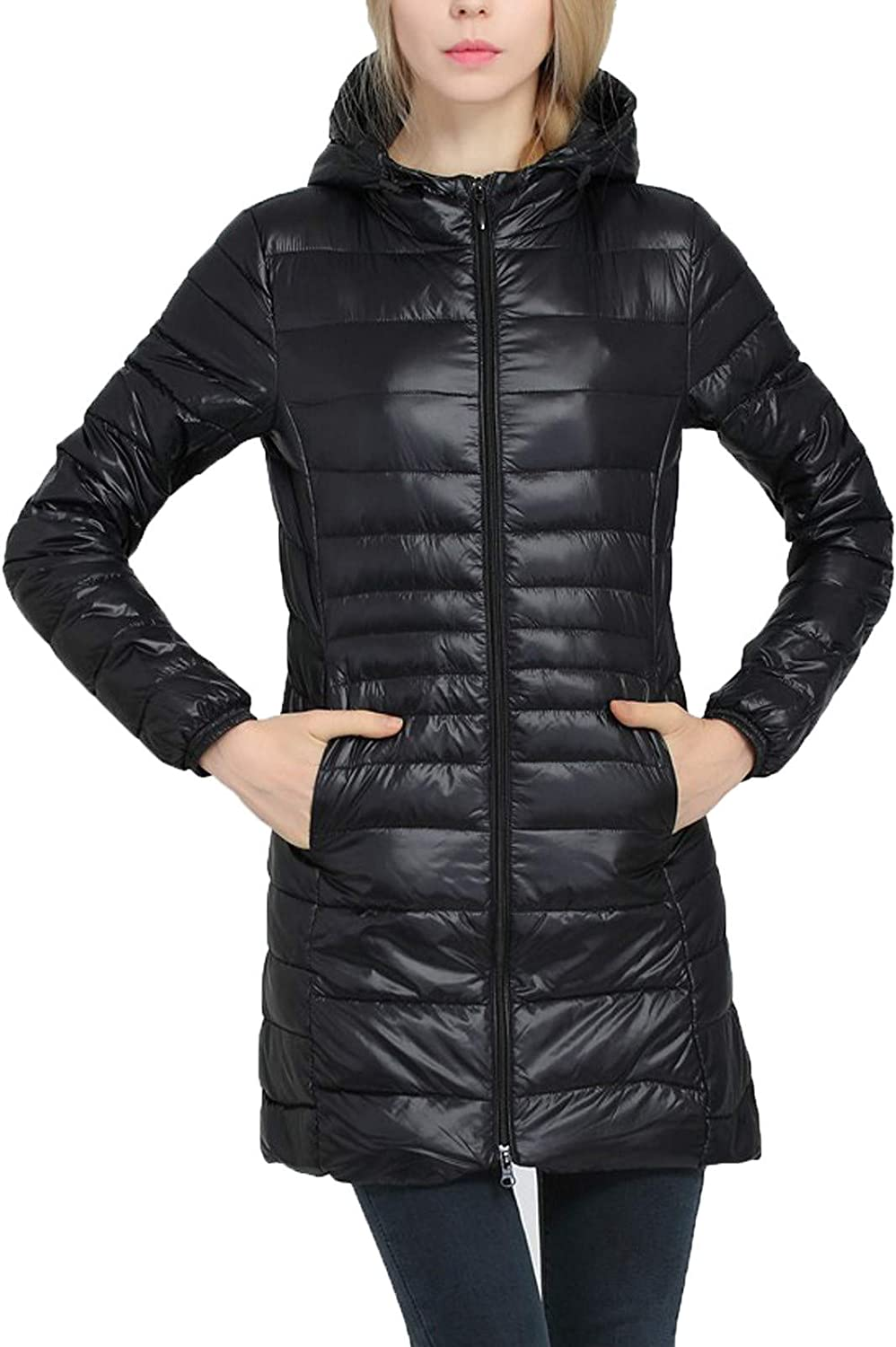 LISTHA Winter Down Cotton Coat Women Hooded Long Parka Quilted Jacket Outwear